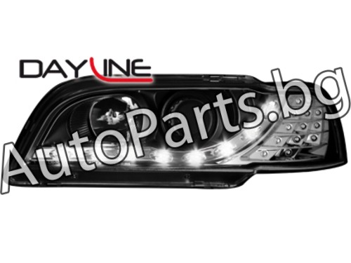 Dayline LED Фарове Черни за VOLVO S40 95-00
