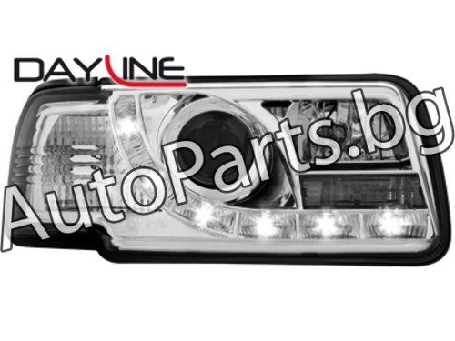 Dayline Фарове Хром за AUDI 80 (B4) 91-95