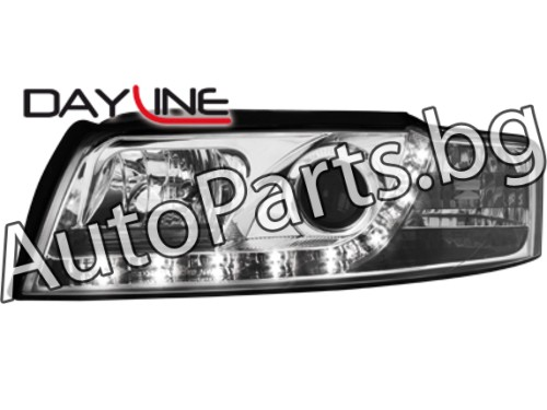 Dayline Фарове Хром за AUDI A4 01-05