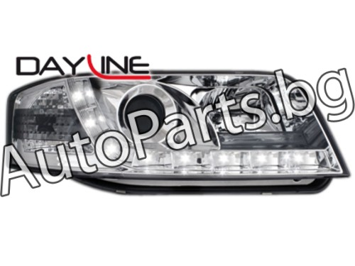 Dayline Фарове Хром за AUDI A6 98-04