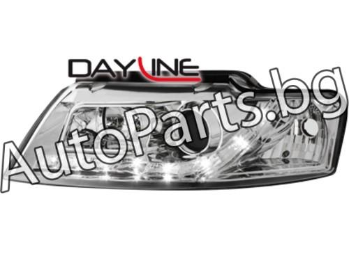 Dayline Фарове Хром Cabrio за AUDI A4 01-05