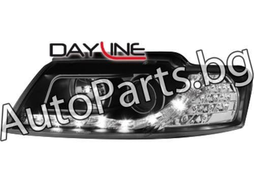 Dayline Фарове Черни Cabrio за AUDI A4 01-05