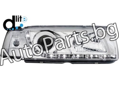 D-Lite Фарове Хром за BMW 3Ser (E36) SDN / S/W 90-98