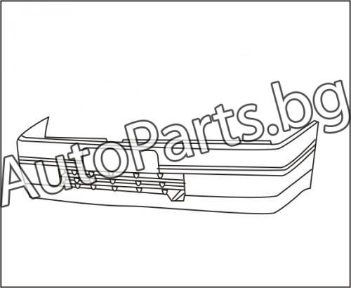 Броня предна без дупки за халогени за RENAULT 19 89-92
