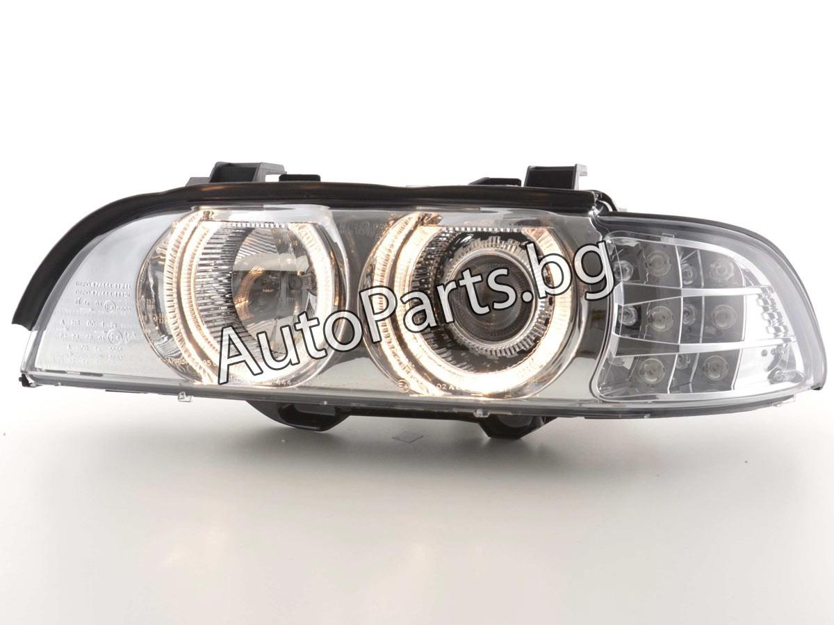 Angel Eyes Фарове Хром за BMW 5Ser (E39) 96-04