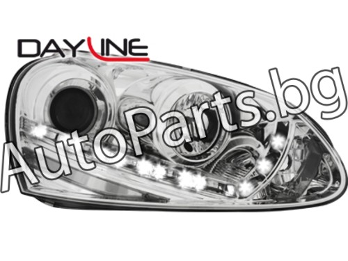Dayline LED Фарове за фабричен ксенон за VW GOLF V 04-