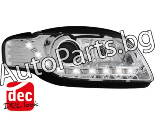 Dayline LED Фарове Хром за AUDI A4 05-08
