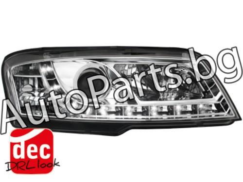 Dayline LED Фарове Хром за FIAT STILO 01-