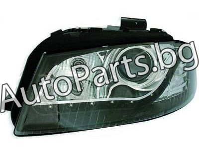 Кристални фарове черни за AUDI A3 03-