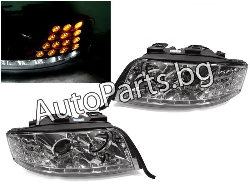 Тунинг LED фарове хром за AUDI A6 98-04