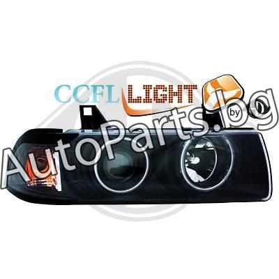 Кристални фарове CCFL Angel Eyes черни за BMW 3Ser (E36) COUPE/CABRIO 90-98