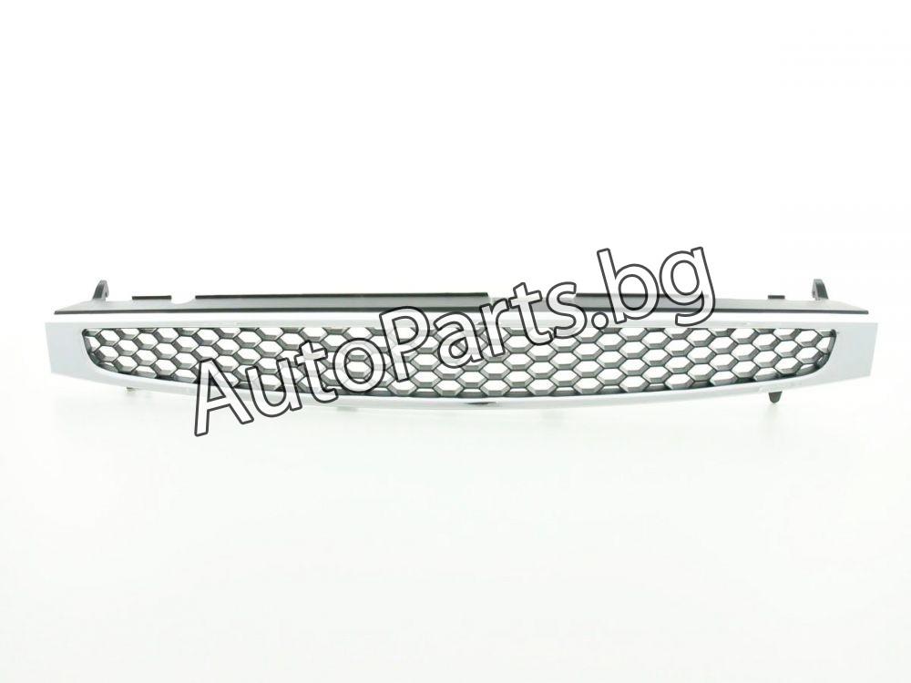 Решетка без емблема черна с хром рамка за FORD FIESTA 02-06
