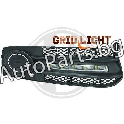 Тунинг дневни светлини с решетка за халоген за AUDI A4 08-