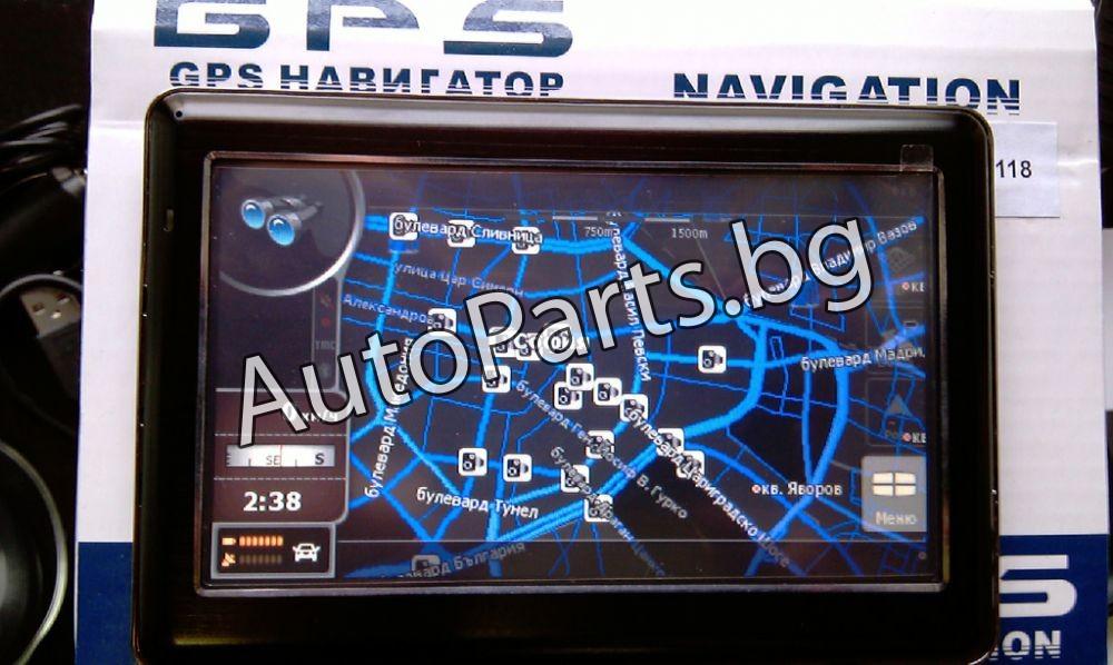 GPS 5'' преносима навигация с FM-Transmiter и bluetooth
