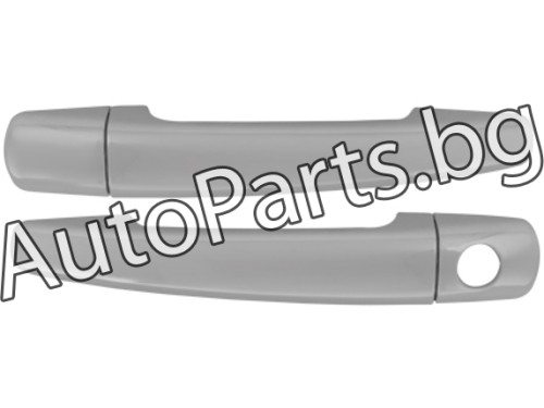 Метални хром 3D  дръжки за врати за PEUGEOT 207 06-