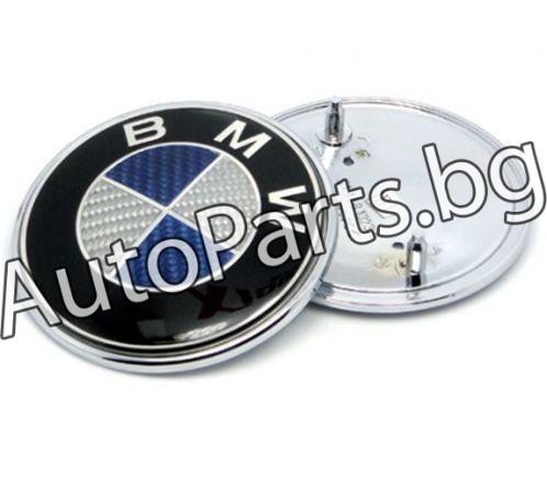 Емблема син-карбон BMW